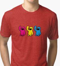 3 up Happyman Tri-blend T-Shirt