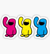 3 up Happyman Sticker