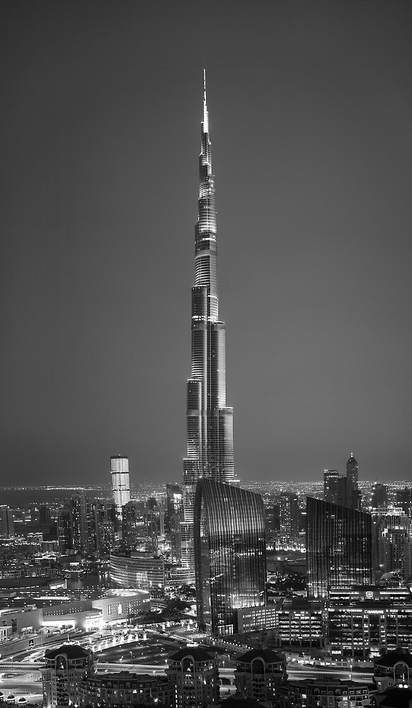 Burj Khalifa Black&White Edition by DubaiPictures