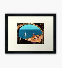 Sailboat at Morro Castle Framed Print