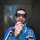 Man in Paris Street by Heather Buckley