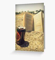 Beach, Beer, Bukowski Greeting Card