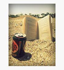 Beach, Beer, Bukowski Photographic Print