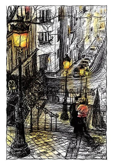 Montmartre 8 in colour by Tatiana Ivchenkova