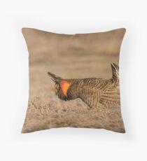 Prairie Chicken-9 Throw Pillow