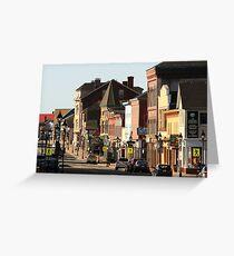 Sunny Morning, Downtown Yarmouth Greeting Card