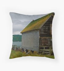 The Old Fish Hut Throw Pillow