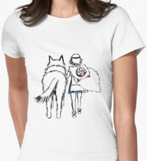 Princess Mononoke and Moro no Kimi Womens Fitted T-Shirt