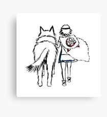 Princess Mononoke and Moro no Kimi Canvas Print