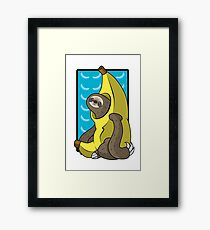 Banana Sloth Framed Print