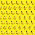 Lovely Duck Cartoon Pattern by thejoyker1986