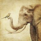 A New Friend (sepia) by Eric Fan