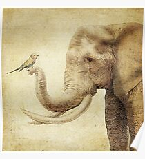 A New Friend (sepia) Poster