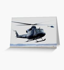 Clearing Turn, RCAF Bell 412 Greeting Card