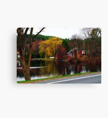 OverCast Day Along the River Canvas Print