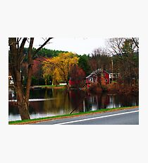 OverCast Day Along the River Photographic Print