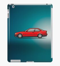 Bavarian 3 Series E36 Coupe Red iPad Case/Skin