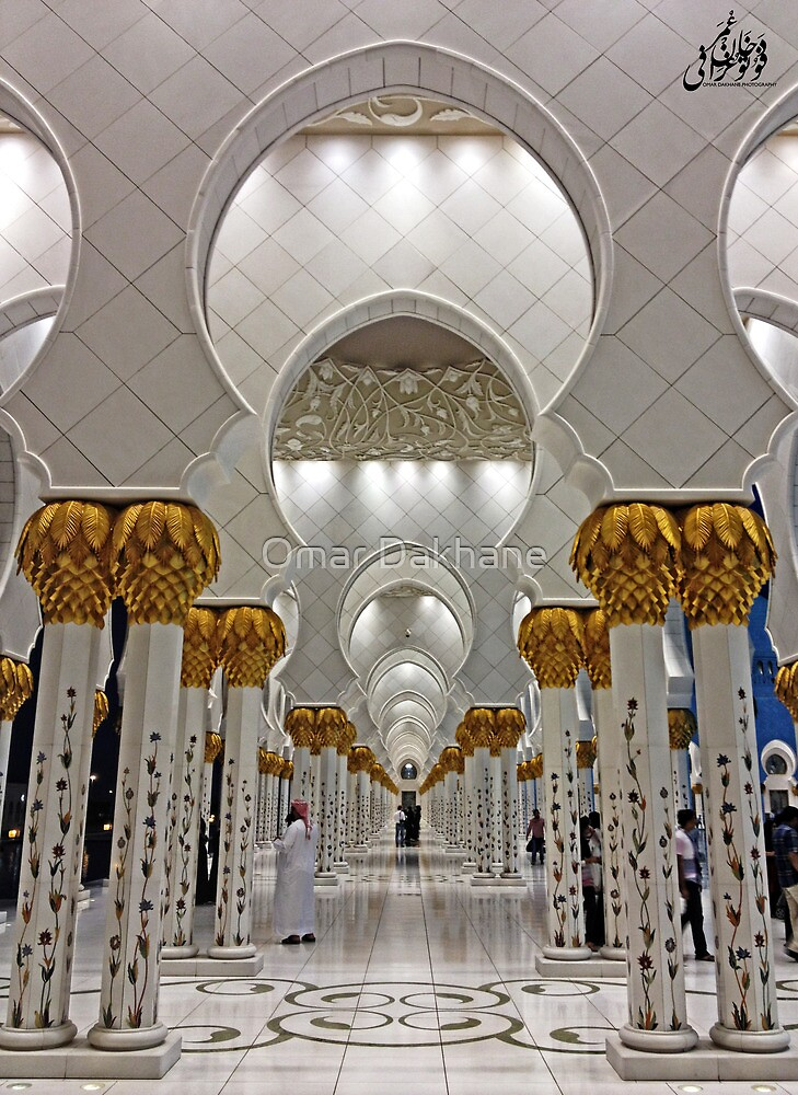 Zayed Grand Mosque Corridor by Omar Dakhane