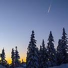 Alpine Evening Snowscape by mlphoto