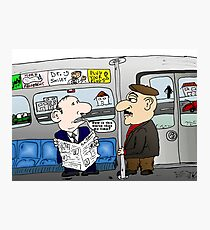 The Limo Train Cartoon Photographic Print