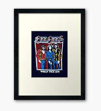 BEE GEES WORLD TOUR Framed Print