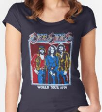 BEE GEES WORLD TOUR Women's Fitted Scoop T-Shirt