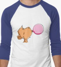 The monkey chews a Chewing-Gum Men's Baseball ¾ T-Shirt