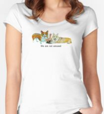 We are not amused Women's Fitted Scoop T-Shirt