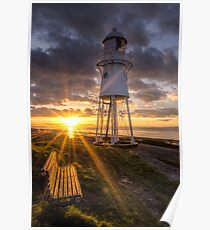 Black Nore Lighthouse Sunset Poster
