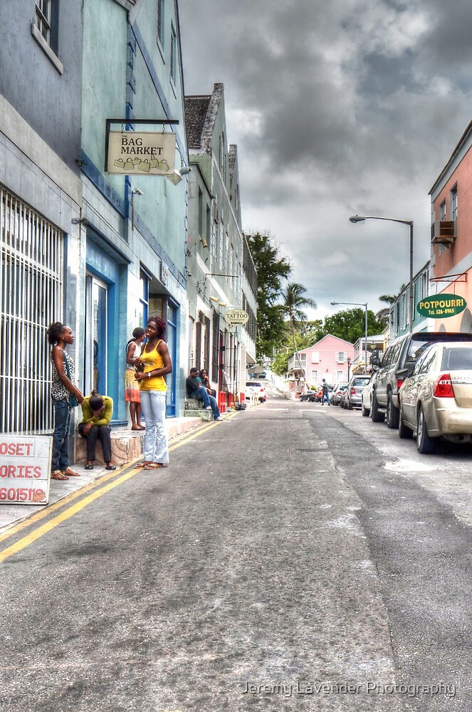 Passing by Market Street in Downtown Nassau, The Bahamas by Jeremy Lavender Photography