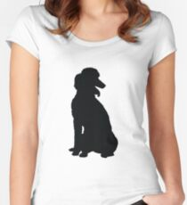 Poodle Silhouette Women's Fitted Scoop T-Shirt