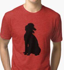 Poodle Silhouette Tri-blend T-Shirt