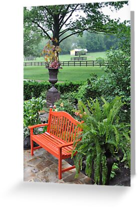 Orange Garden Bench by studio20seven