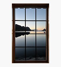 View through the window at the sunrise Photographic Print