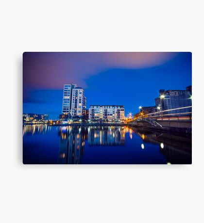Grand Canal Dock, Dublin, Ireland Canvas Print