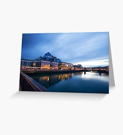 Dublin Quay, Ireland Greeting Card
