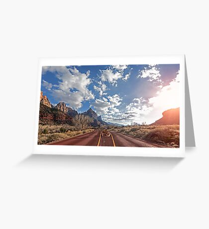 Zion Keep Right Greeting Card