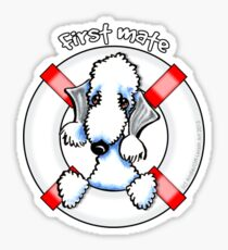 Bedlington Terrier :: First Mate Sticker