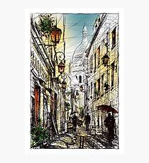 Montmartre 11 in colour Photographic Print