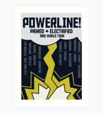 Powerline World Tour Art Print