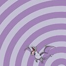 Pokemon - Aerodactyl Circles iPad Case by Aaron Campbell