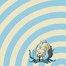 Pokemon - Omastar Circles iPad Case by Aaron Campbell