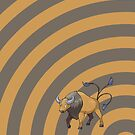 Pokemon - Tauros Circles iPad Case by Aaron Campbell