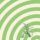 Pokemon - Scyther Circles iPad Case by Aaron Campbell