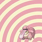 Pokemon - Lickitung Circles iPad Case by Aaron Campbell