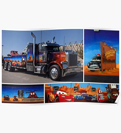 "Peterbilt Big Rig Tow Truck ""Cars"" Tribute Truck Poster"