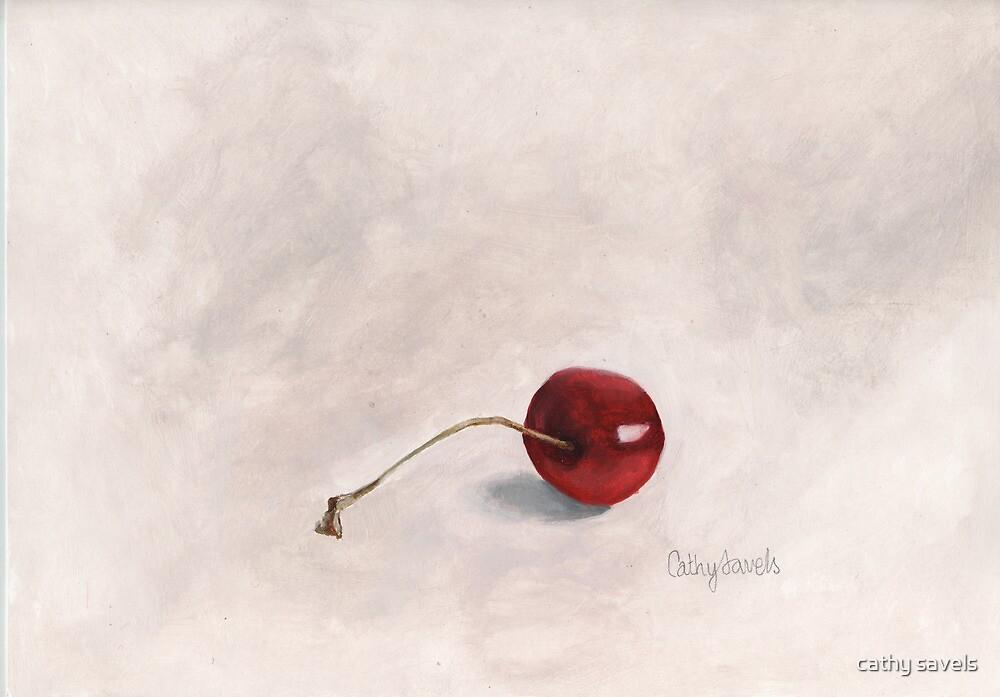 Cherry I Print by cathy savels