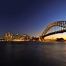 Sydney Skyline at Dusk by S T
