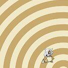 Pokemon - Cubone Circles iPad Case by Aaron Campbell