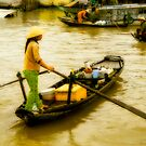 Vietnamese Floating Market Trader by mlphoto